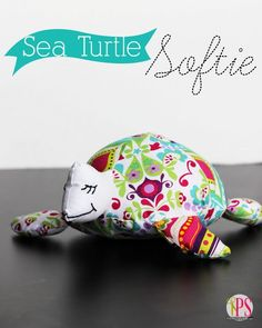 Sea Turtle Softie Pattern and Tutorial at PositivelySplendid.com turtl softi, tutorials, softi sew, seas, free softie sewing patterns, softi pattern, posit splendid, sew pattern, sea turtles