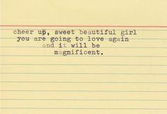 You'll love again.