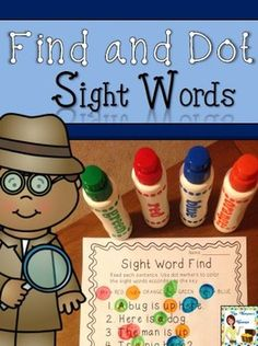 Your beginning readers will love using dot markers (bingo daubers) to dot sight words while reading the simple sentences made of Dolch pre-primer sight words and easily decodable CVC words! Reading the sentences multiple times as they search for each sight word will help increase students' fluency! $