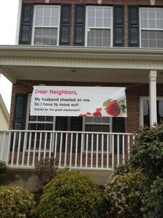 Dear neighbours - really not funny