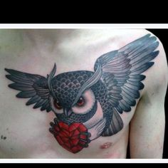 Amazing owl tattoo. <3