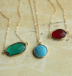 necklaces from http://postscripted.etsy.com