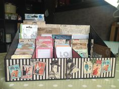 This is my Project Life storage system that I made. By Pollycraft using Couture #graphic45