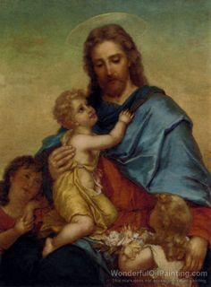 Hans Zatzka's oil painting Divinity and Innocence