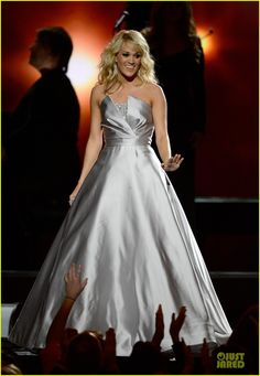 Carrie Underwood is stunning in a Theia dress
