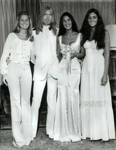 June 30, 1975– Gregg Allman & Cher's wedding photos.  The couple were wed