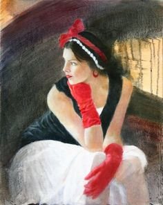 Holly - Red Gloves by Randall M. Hasson