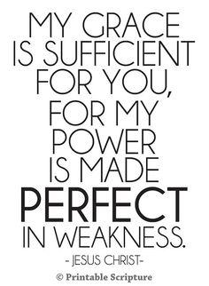 2 Cor. 12:9