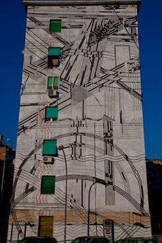 Sten & Lex - Outdoor 2013 - Nuovo murales a Roma - Garbatella.