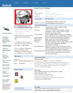 facebook resume. creative ideas for resumes. from the campaign #hirehoff.