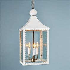 Scallop Trim Hanging Lantern
