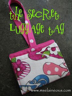 Free Pattern: The Luggage Tag
