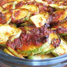 Oven Baked Zucchini Coins | giverecipe.com | #zucchini