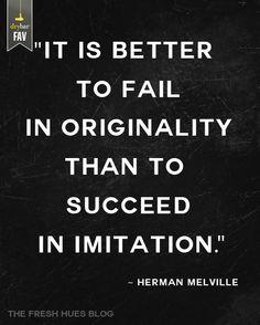 Be original!!!!