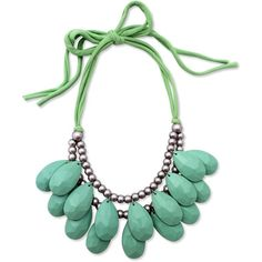 Anthropologie Mint Necklace ❤ liked on Polyvore