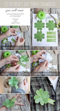 DIY St. Patrick's Day Paper Shamrock