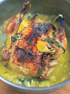 """Chicken in Milk recipe -- """"A slightly odd, but really fantastic combination that must be tried."""""""