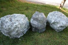Paper mache boulders