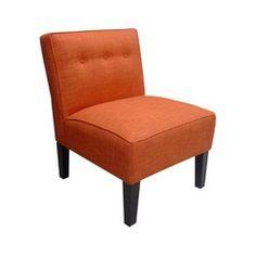Regan Upholstered Chair - Tangerine Quick Information