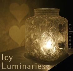 Icy Epsom Salt Luminaries from Craftiments