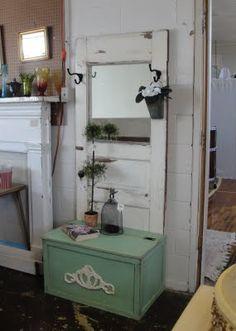 mirror, the doors, old door projects, door idea, hall trees, door obsess, old doors