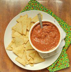 fat-free black bean dip + tortilla chips