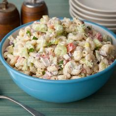 Best American Macaroni Salad for the best 4th of July Party! #celebrateAmerica #Happy4th #starsandstripes