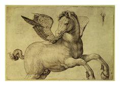 pegasus, de barbari, mytholog creatur, art prints, jacopo debarbari, unicorn, barbari jacopo, hybrid, greek mythology