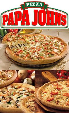 Papa John's: 50% Off Pizza Coupon - #pizza