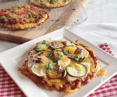 Grilled Cauliflower Crust Pizza.
