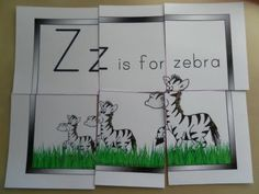Z for zebra, printable resources
