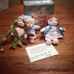 """Day 9-message from The Christmas Angel- Donate stuffed animals to Young Williams Animal Center for the dogs to play with. And a funny message from Joy saying, """"But don't donate me."""" funny messages, messag idea, christmas angels, christma angel, angel idea"""