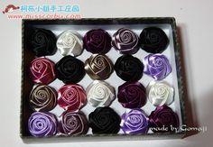 МК розы из лент