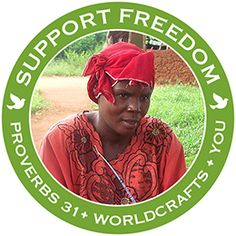@WorldCrafts Support Freedom Stories {Proverbs 31 ~ Uganda} Widowed, destitute, HIV+ could be used to describe the women of the Proverbs 31 artisan group in Uganda. But as they make colorful, attractive beaded jewelry out of recycled paper—you'd never guess—their hearts join together in song and their faces light up with smiles of joy! Sales of their beautiful, handmade items provide badly needed income to meet their families' most basic needs. #WCArtisans #fairtrade #supportfreedom