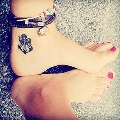 Anchor with a bow... Cute tattoo