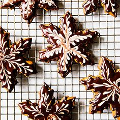 gingerbread snowflak, chocolate desserts, chocol gingerbread, chocolates, holiday cookies