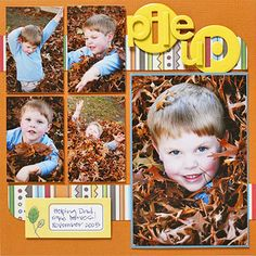 Fall Leaves Scrapbook Pages