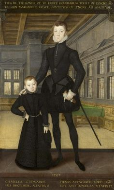 Henry Stewart, Lord Darnley and his brother Charles Stewart, Earl of Lennox 1563