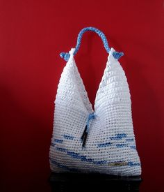 Bag made from recycled plastic bags