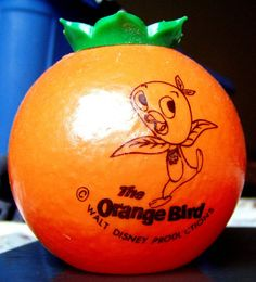 Vintage Walt Disney World Orange Bird sippy cup from Adventureland, 1971.
