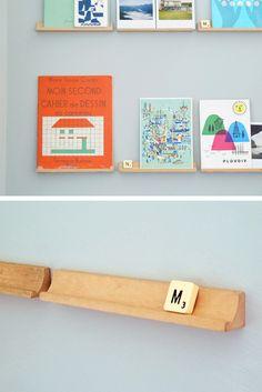 Book Scrabble shelves