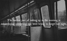 depressed dark | quote Black and White depressed depression sad suicide quotes true ... Heart, Life, Sad, Wake, Hardest, Train, Childhood, Mornings, Quot