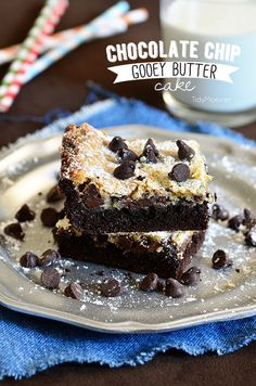 Chocolate Chip Gooey Butter Cake.