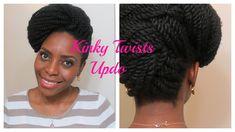 73* Kinky Twists Updo   Natura Hair Style