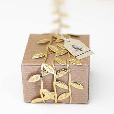 10 Yard roll of Gold Leaf Ribbon/Garland by Caramelos Artful Supplies / Photo Credit: Caramelos Artful Supplies