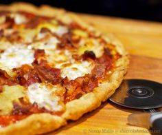 BBQ Chicken, Bacon, and Pineapple Pizza (glutenfree)