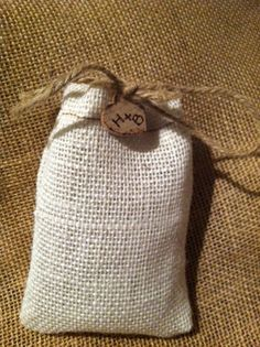 Shabby Chic Burlap Wedding Favor Bags by AllaboutBurlap on Etsy, $20.00