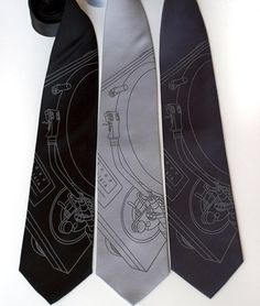 Gray turntable tie!