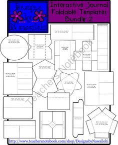 Interactive Journal Template Bundle 2 from Designs by Nawailohi on TeachersNotebook.com -  (16 pages)  - These 16 Interactive Notebook Foldable Templates- Bundle 2 will be a wonderful addition to your worksheets and projects. Your students will love how their work is enhanced with this lively clip art!