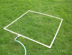 make a pvc sprinkler for your garden bed (or for the kiddos!)